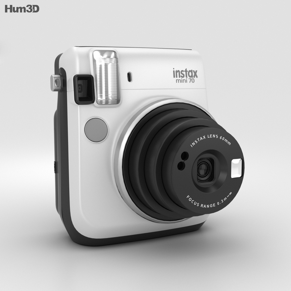 Fujifilm instax mini 70 white 3d model humster3d for Housse instax mini 70