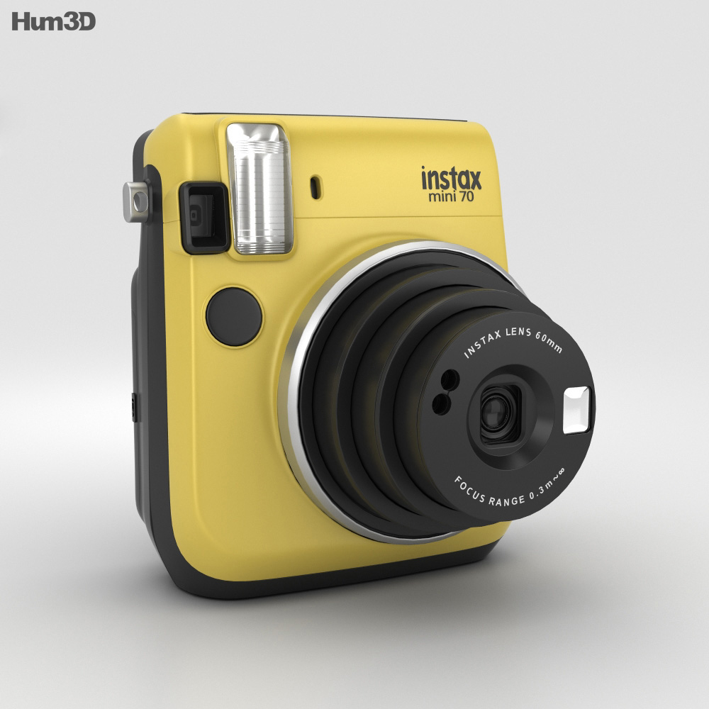 Fujifilm instax mini 70 yellow 3d model hum3d for Housse instax mini 70