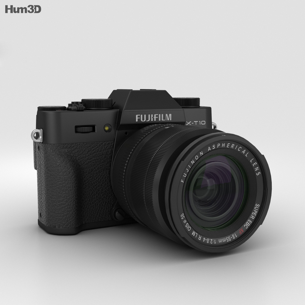 Fujifilm X-T10 Black 3d model