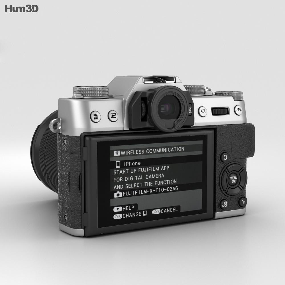 Fujifilm X-T10 Silver 3d model