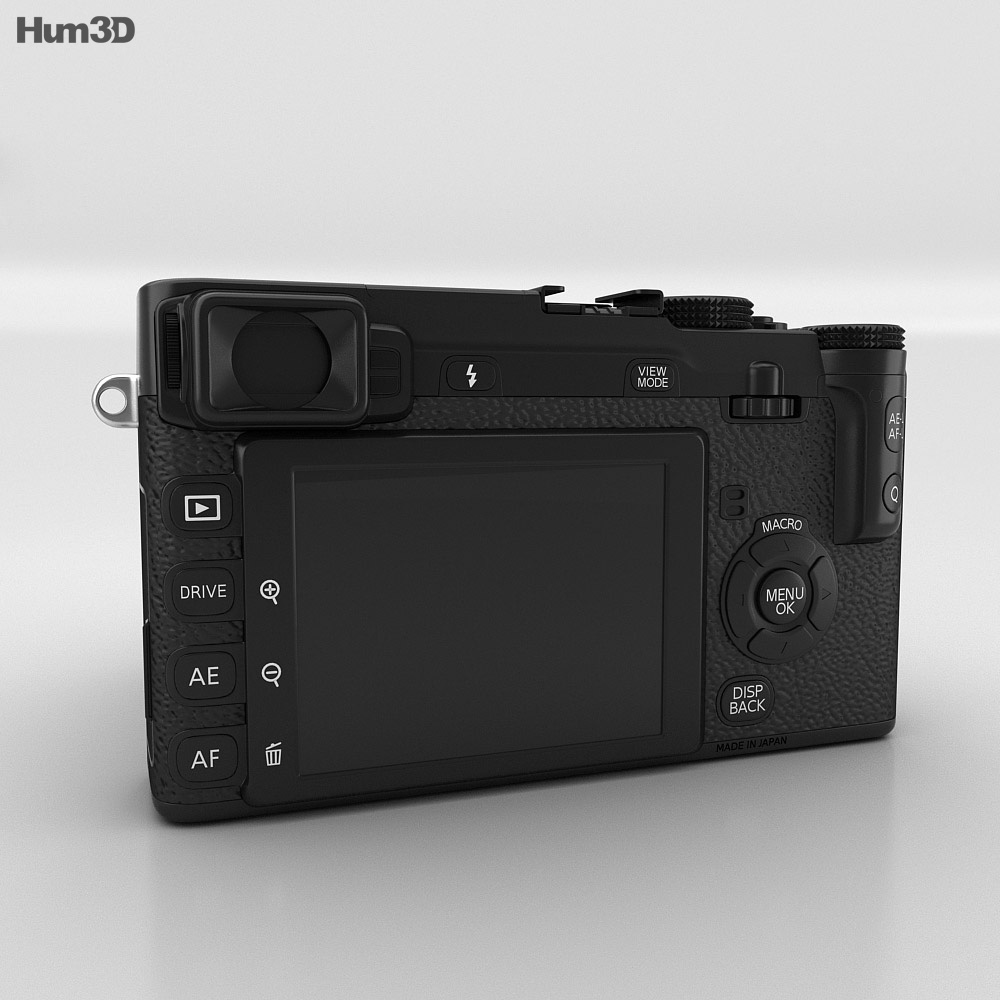 Fujifilm X-E1 Black 3d model