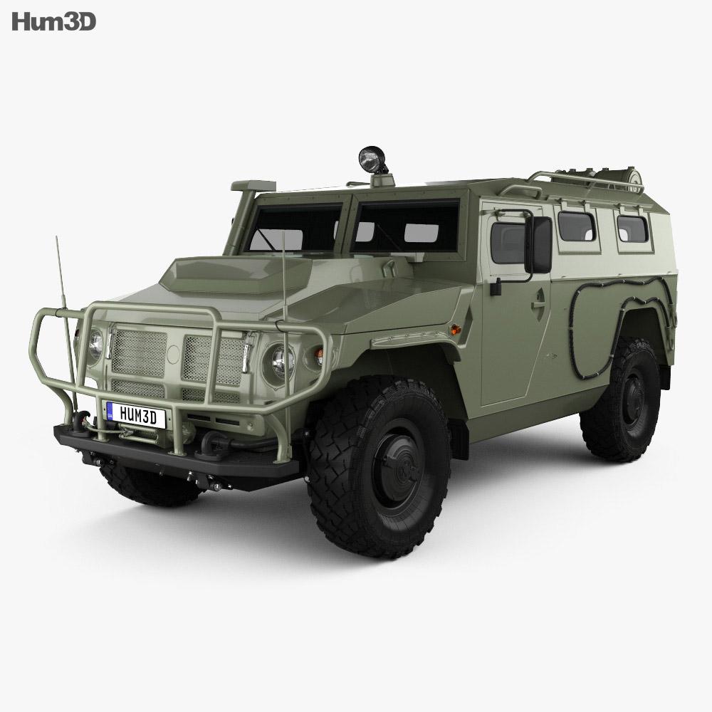 3D model of GAZ Tiger-M 2011