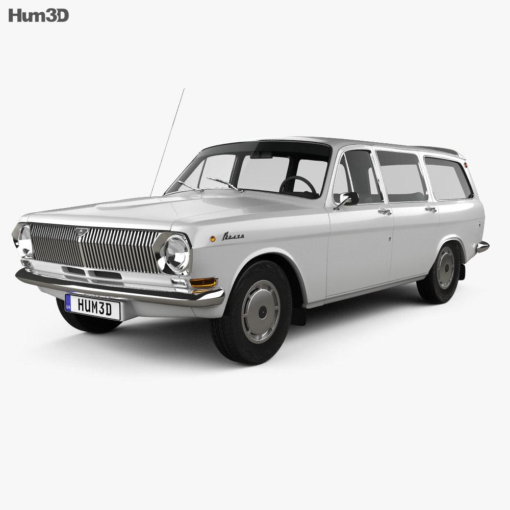 GAZ 24 Volga combi 1967 3d model