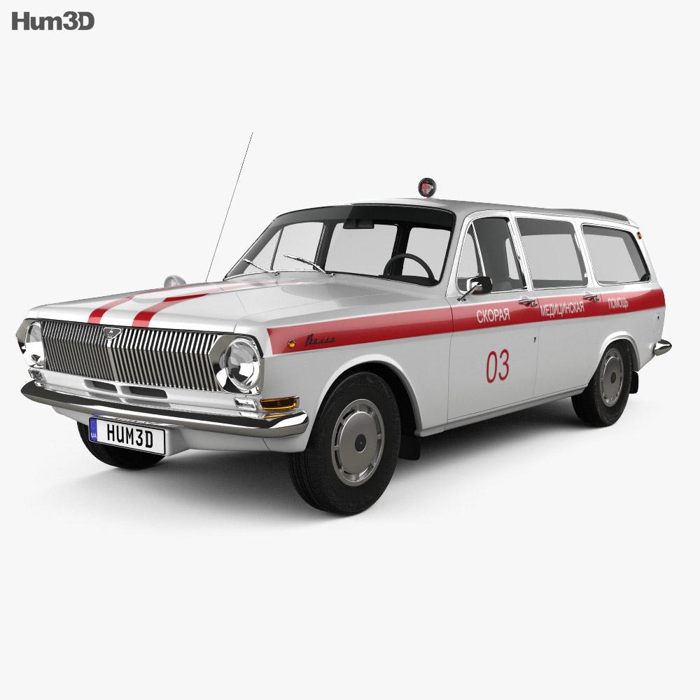 GAZ 24 Volga Ambulance 1967 3d model
