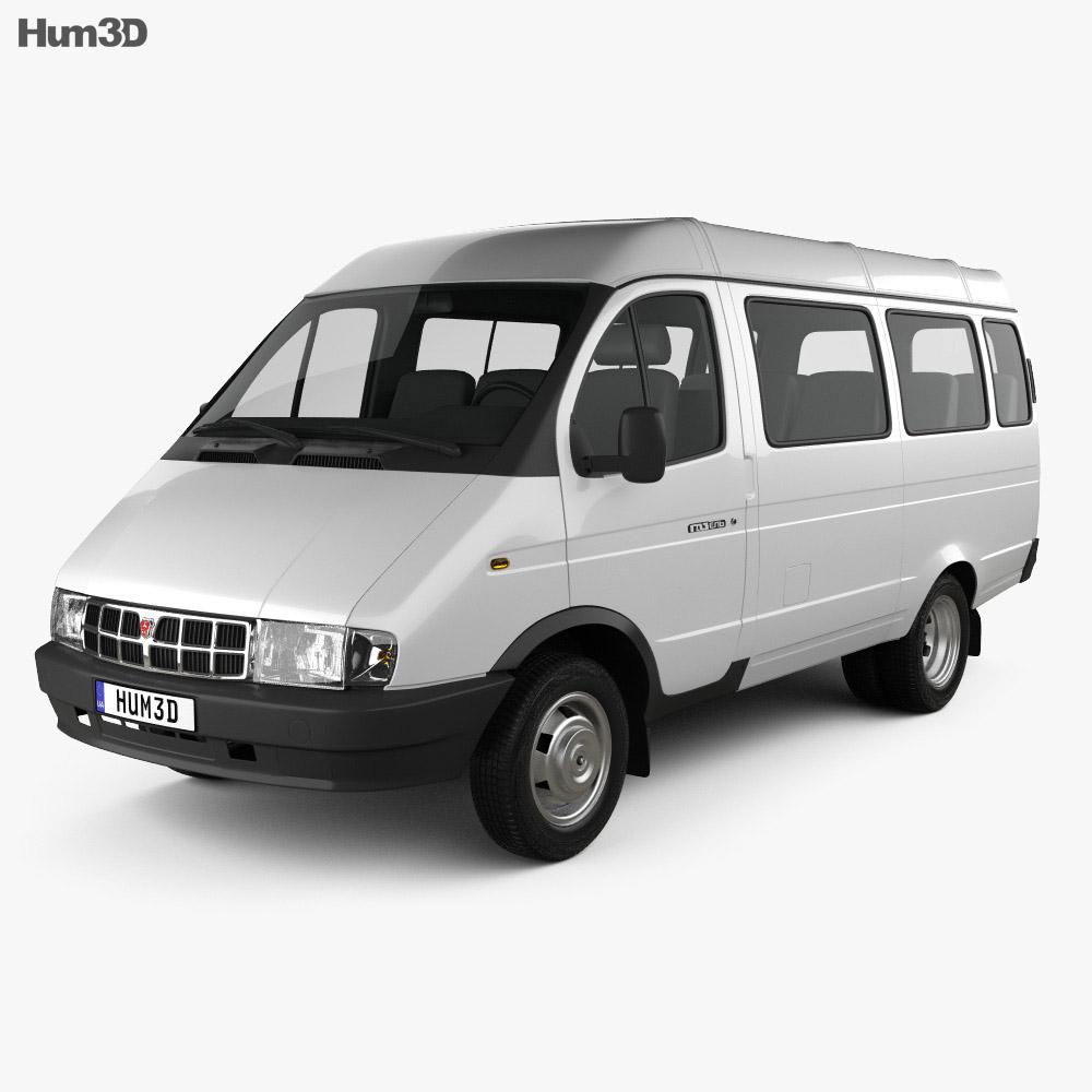 GAZ 3221 Gazelle Passenger Van 1996 3d model