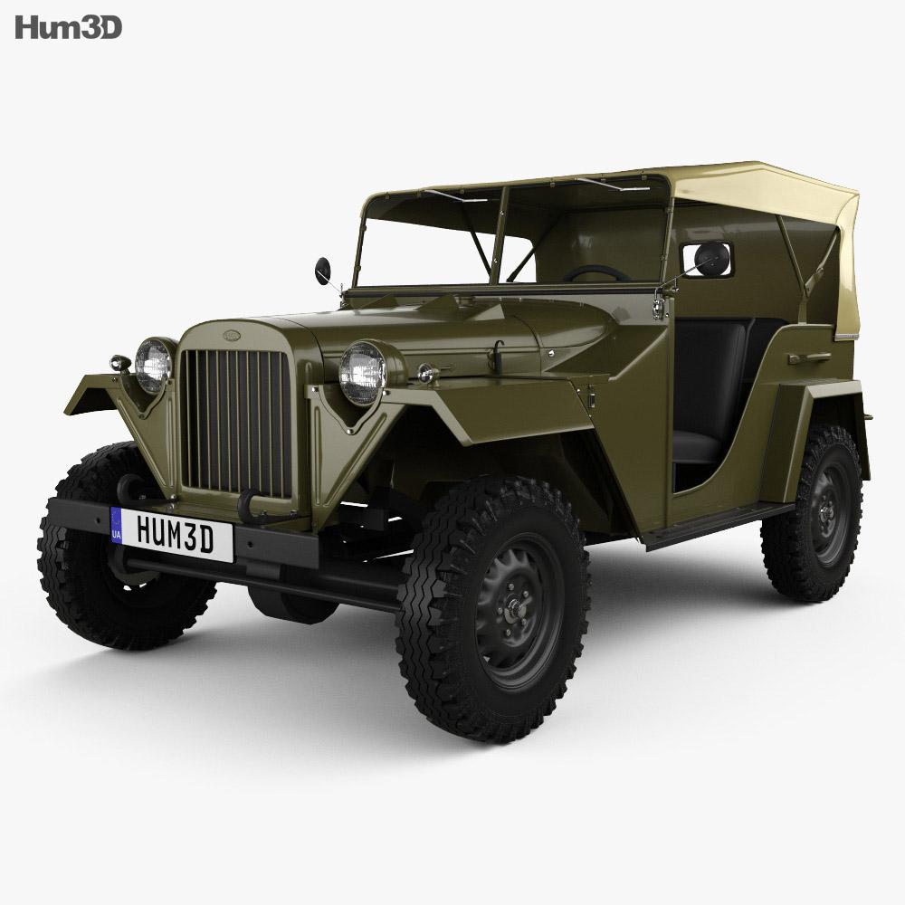 3D model of GAZ-67 1943
