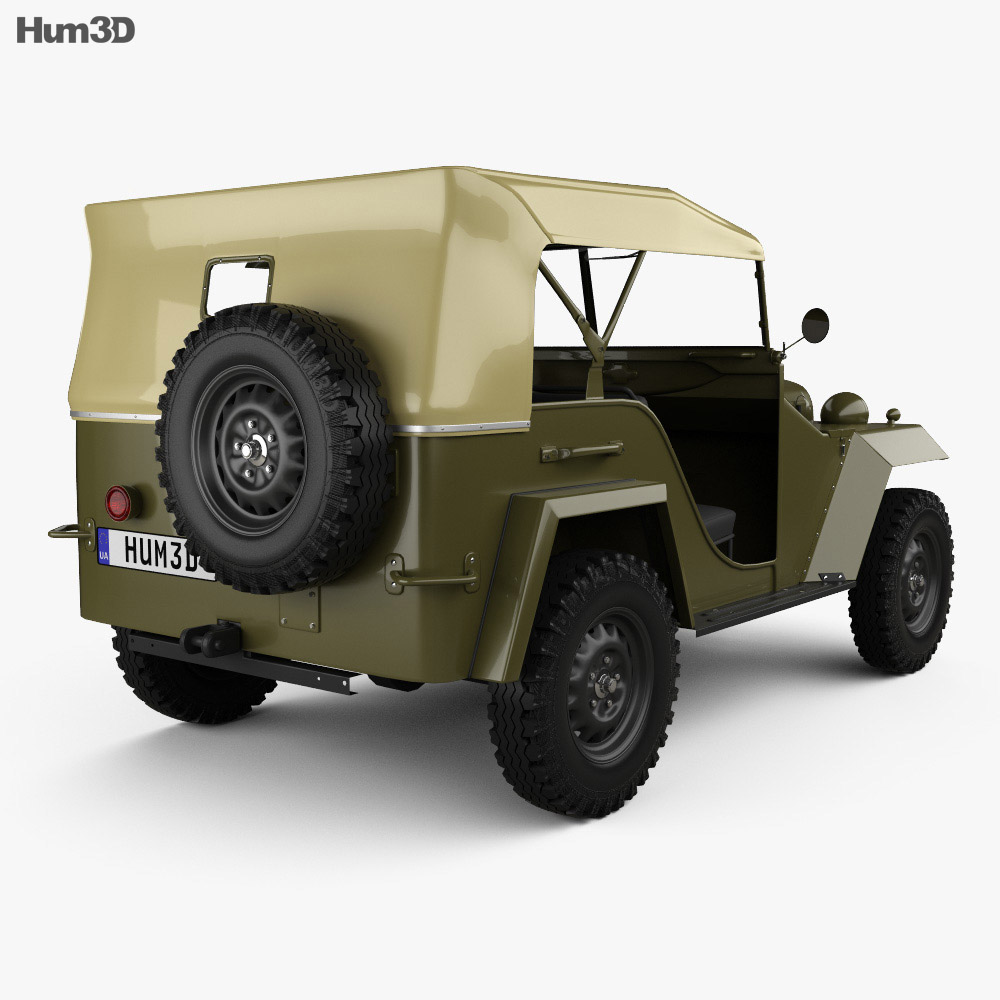 GAZ-67 1943 Military Vehicle 3d model