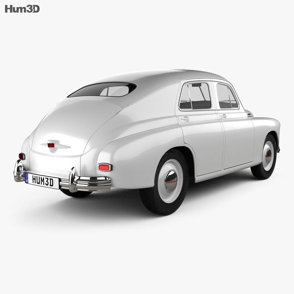 GAZ M20 Pobeda 1946 3d model