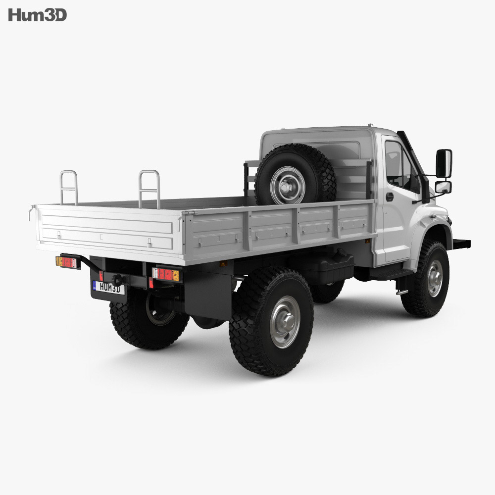GAZ Sadko Next Flatbed Truck 2019 3d model