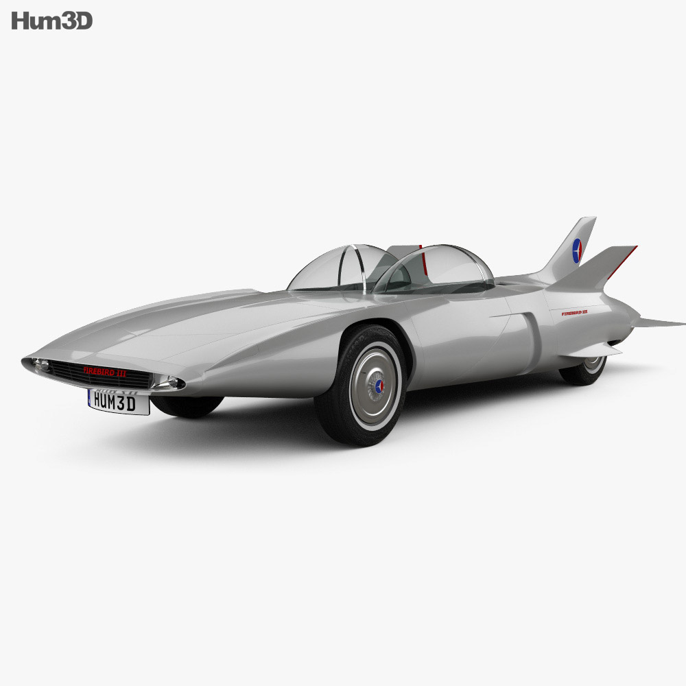 GM Firebird III 1958 3d model