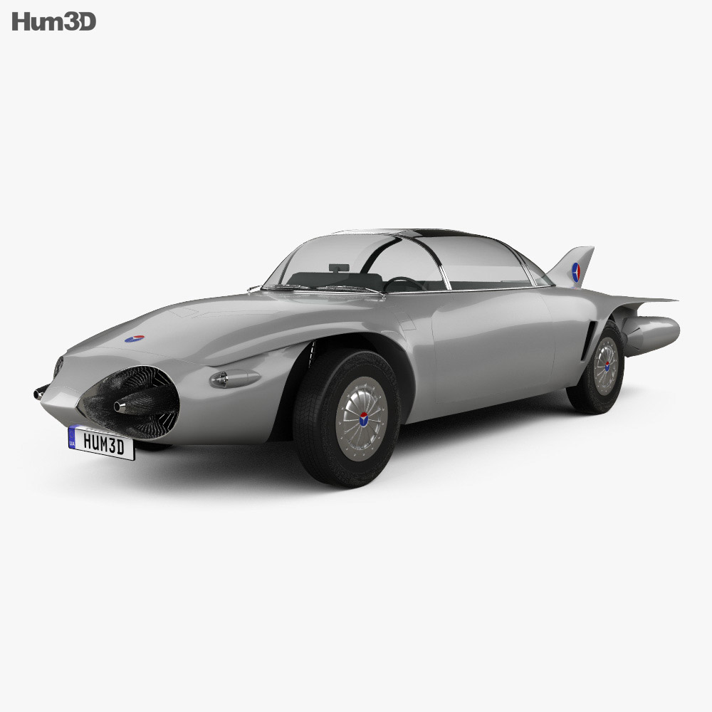 GM Firebird II 1956 3d model