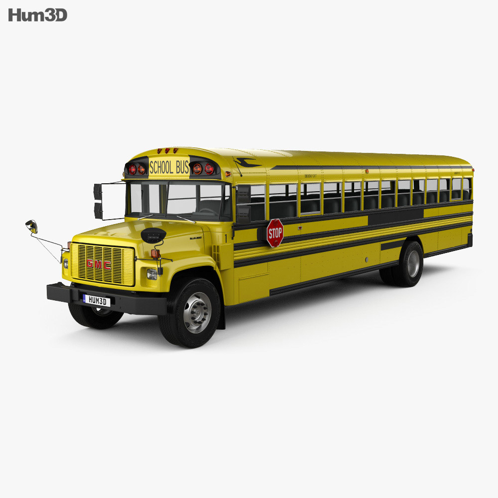 GMC B-Series School Bus 2000 3d model