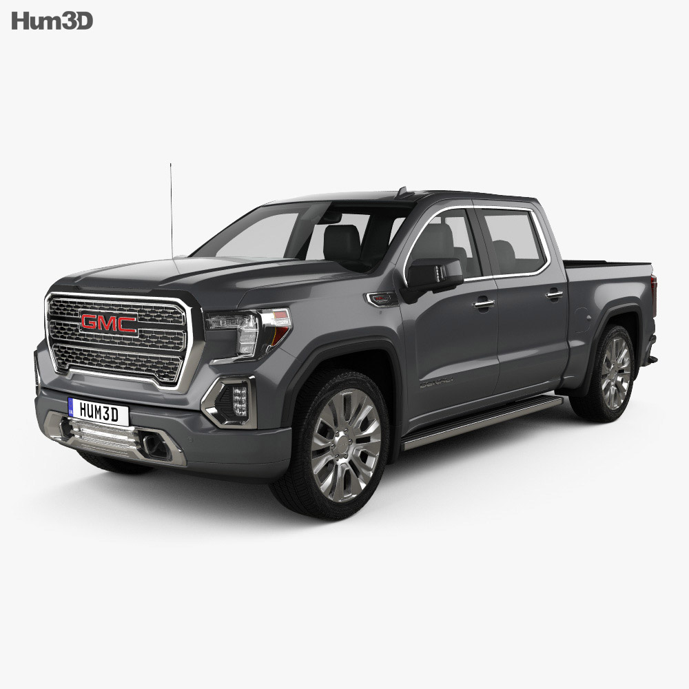 GMC Sierra 1500 Crew Cab Short Box Denali 2019 3d model