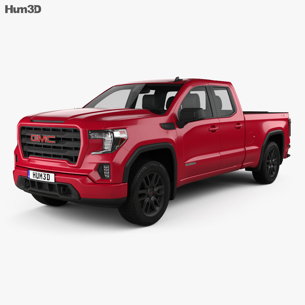 GMC Sierra 1500 Double Cab Standard Box Elevation 2019 3d model