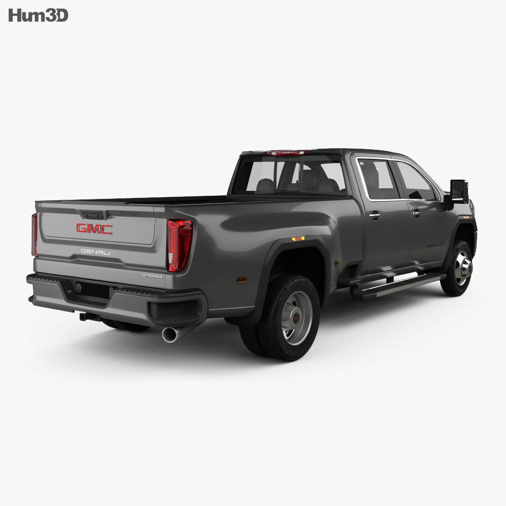 GMC Sierra HD Crew Cab Long Box Denali DRW 2019 3d model