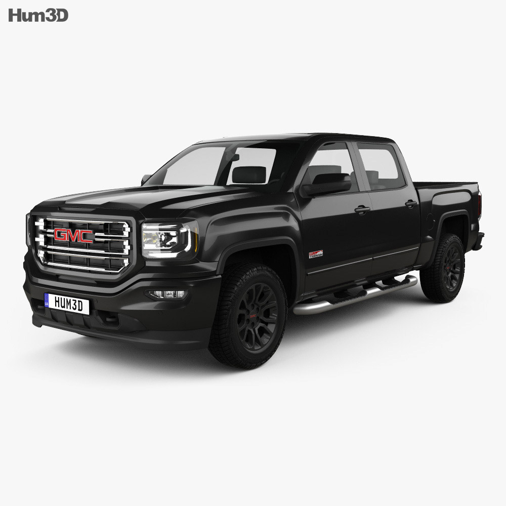 GMC Sierra 1500 Crew Cab Short Box All Terrain 2017 3d model