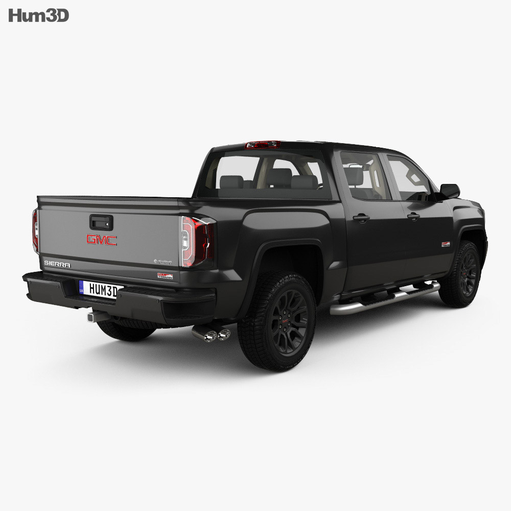 GMC Sierra 1500 Crew Cab Short Box AllTerrain with HQ interior 2017 3d model