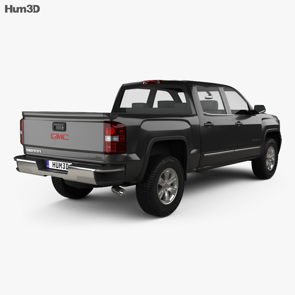 GMC Sierra 1500 SLE Crew Cab Short Box 2017 3d model