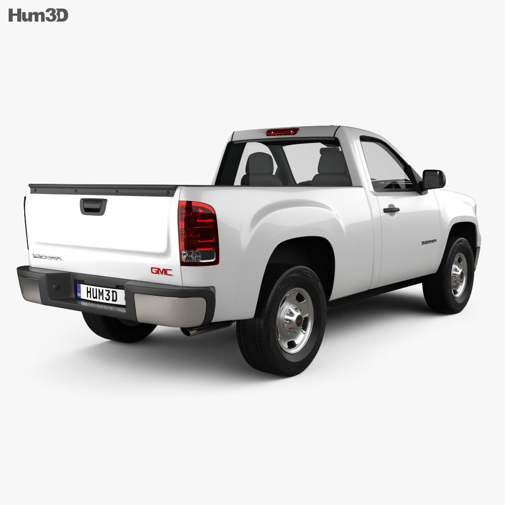 GMC Sierra Regular Cab Standard Box 2011 3d model