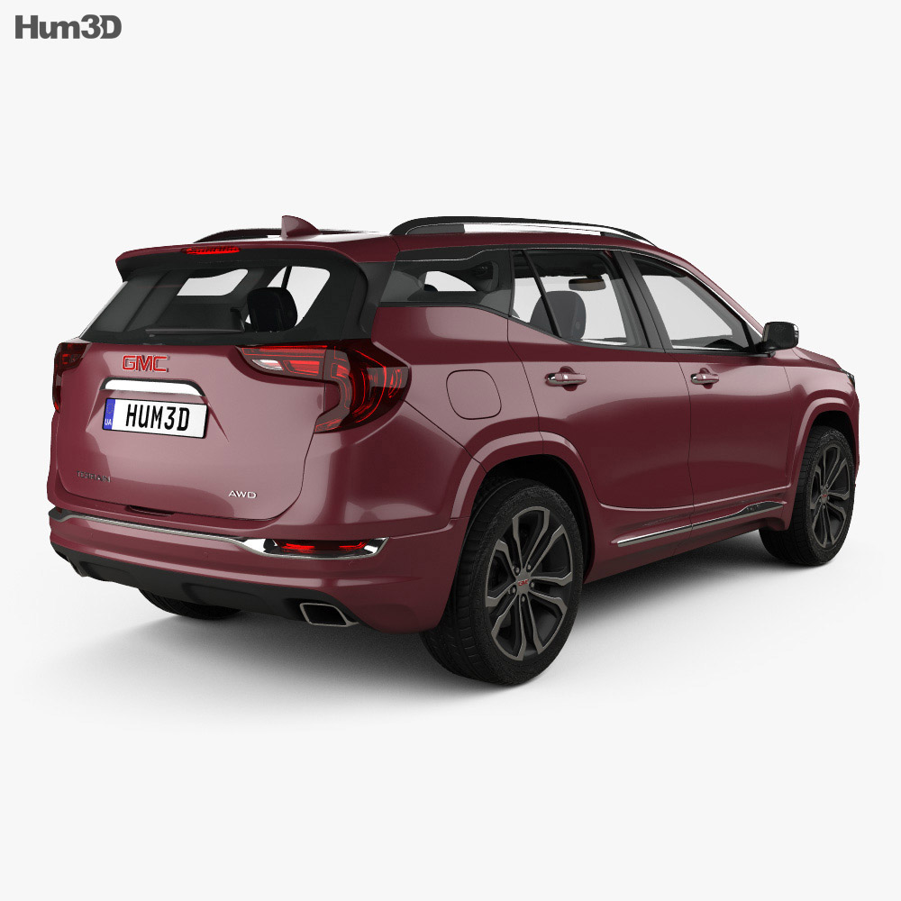 GMC Terrain Denali with HQ interior 2017 3d model