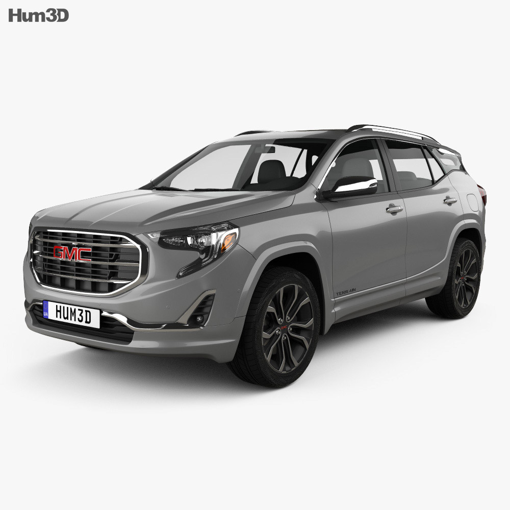 2018 Gmc Yukon Denali Review >> GMC Terrain SLT 2017 3D model - Hum3D