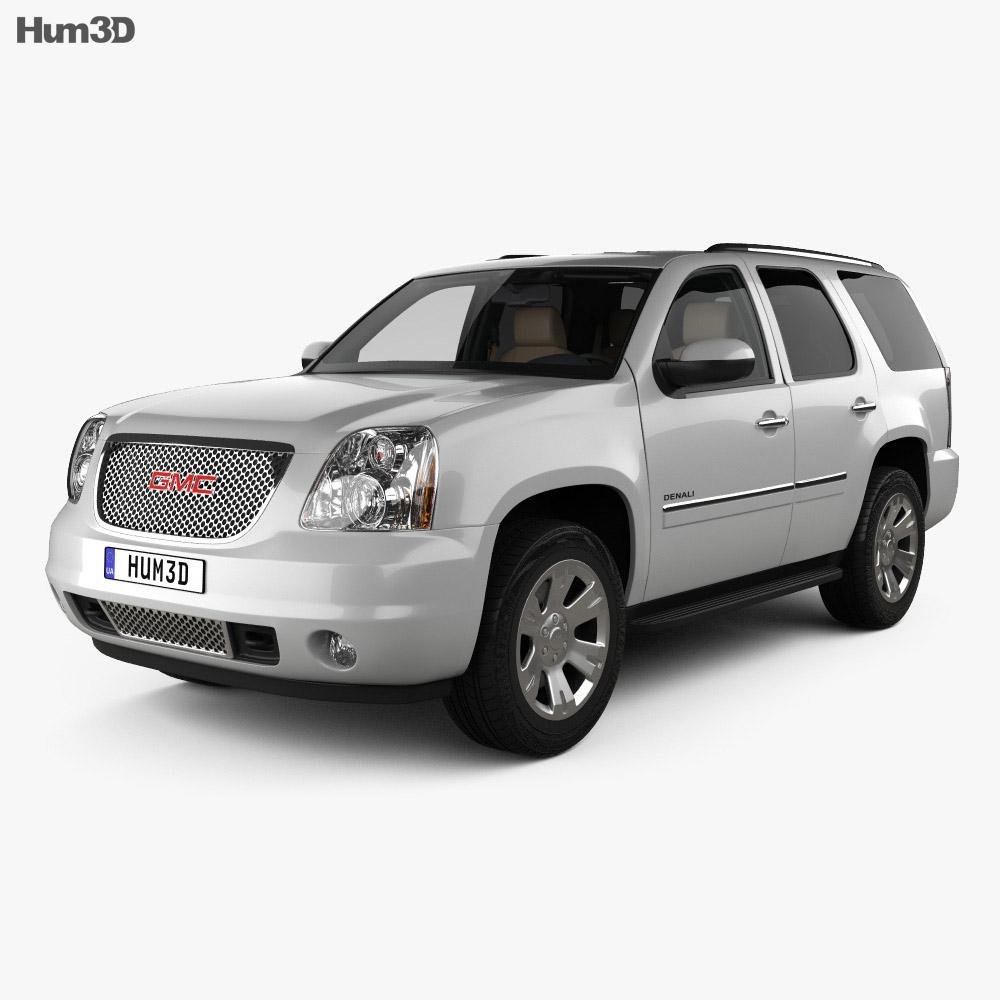 GMC Yukon Denali with HQ interior 2012 3D model - Vehicles ...