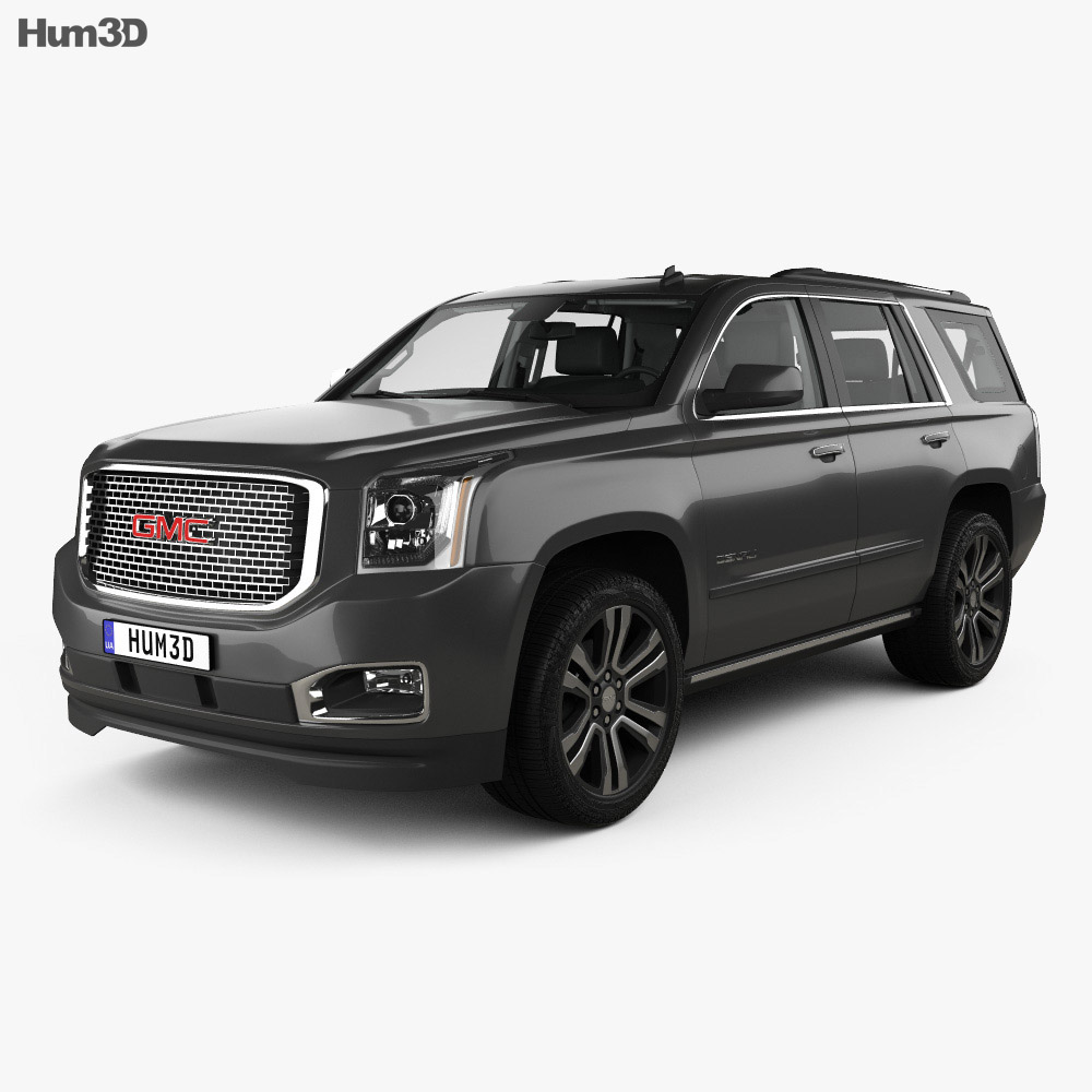 GMC Yukon Denali with HQ interior 2014 3d model