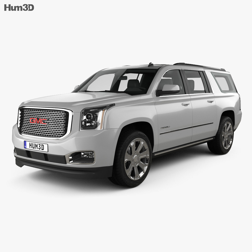 gmc yukon xl denali 2014 3d model hum3d. Black Bedroom Furniture Sets. Home Design Ideas