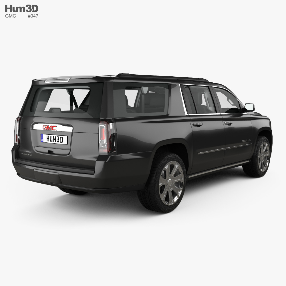 GMC Yukon XL Denali with HQ interior and engine 2014 3d model