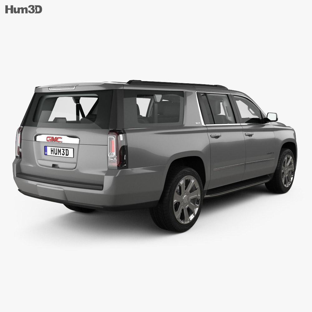 GMC Yukon XL with HQ interior 2014 3d model
