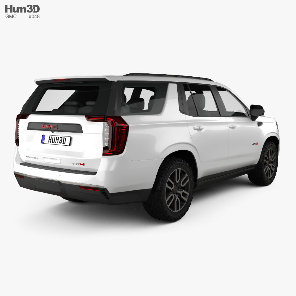 GMC Yukon AT4 2021 3d model