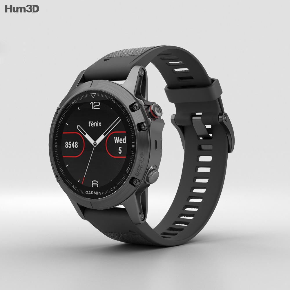 Black Slate Band : Garmin fenix slate gray with black band d model hum