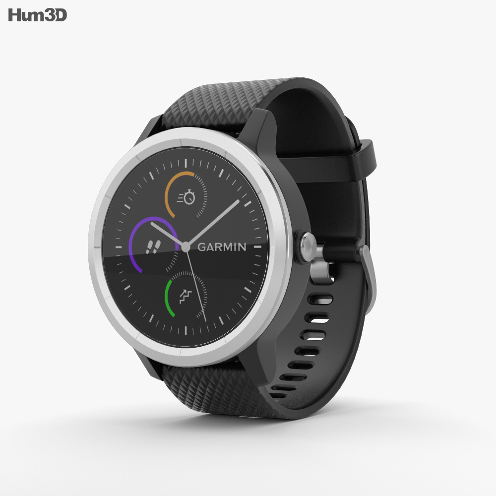 Garmin Vivoactive 3 Black with Stainless Hardware 3d model
