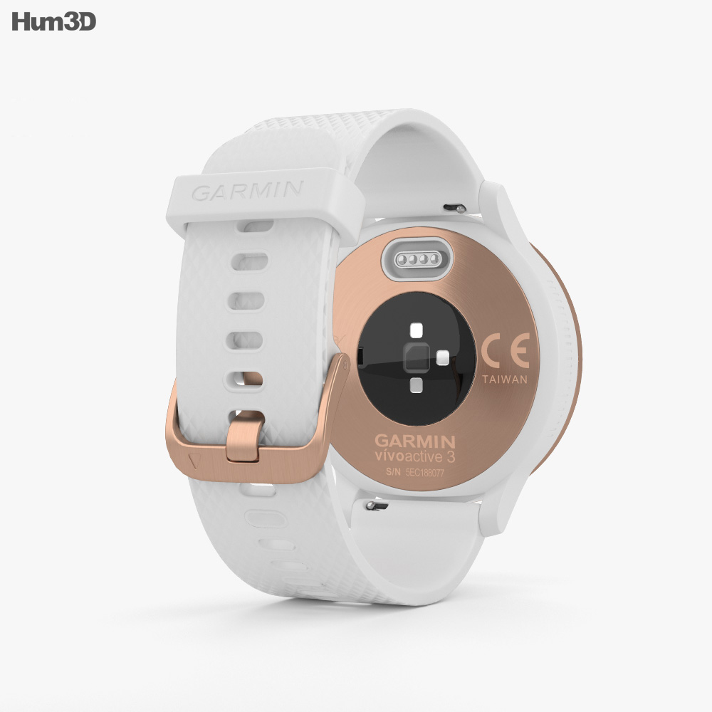 Garmin Vivoactive 3 White with Rose Gold Hardware 3d model