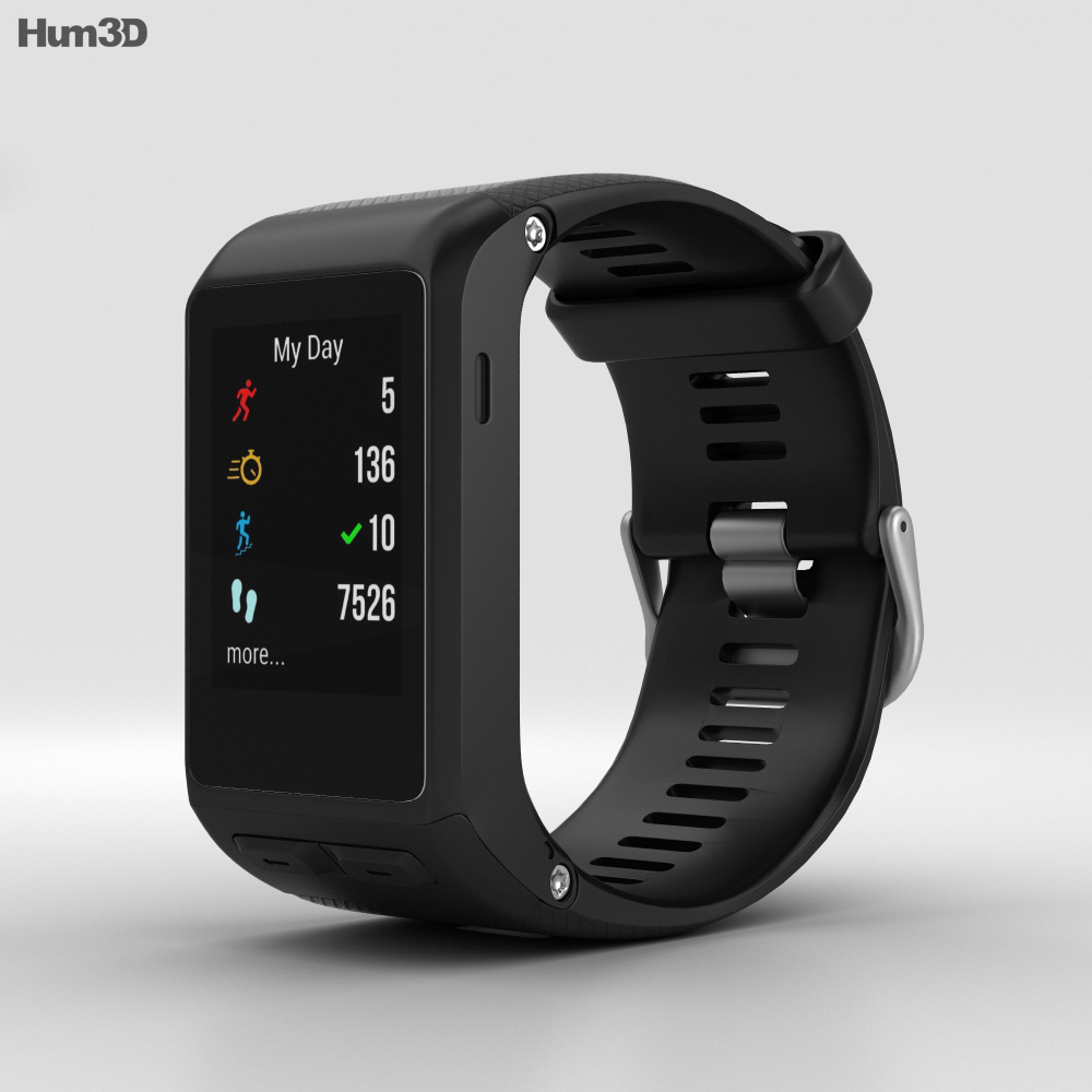Garmin Vivoactive HR Black 3d model
