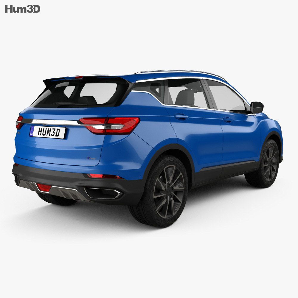 Geely Binyue PHEV 2019 3d model