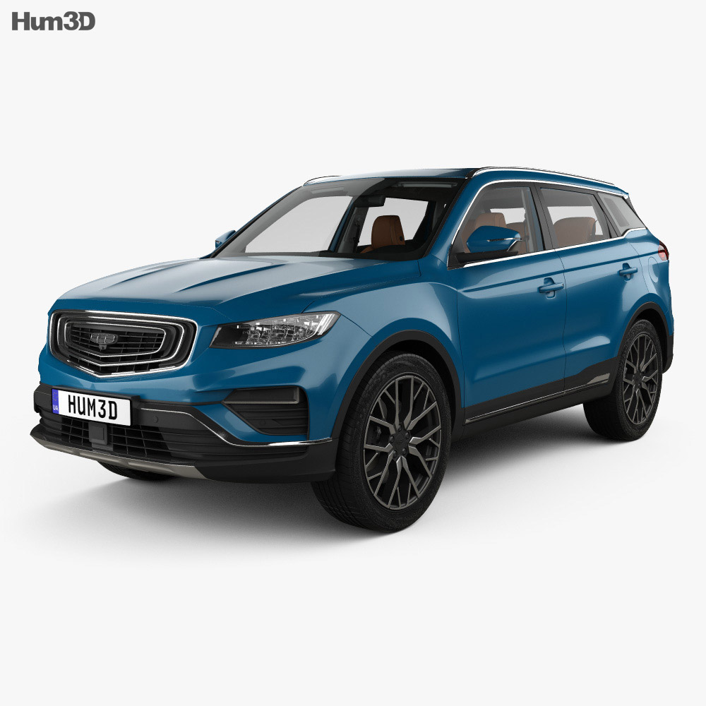 Geely BoYue Pro with HQ interior 2019 3d model