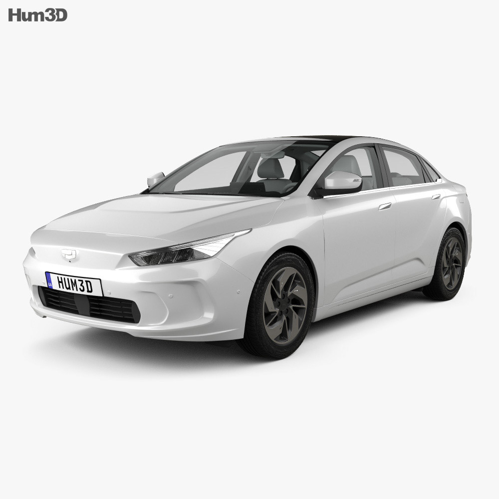 Geely GE11 with HQ interior 2019 3d model