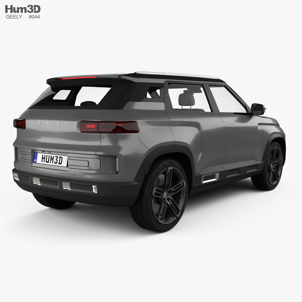 Geely Icon 2019 3d model