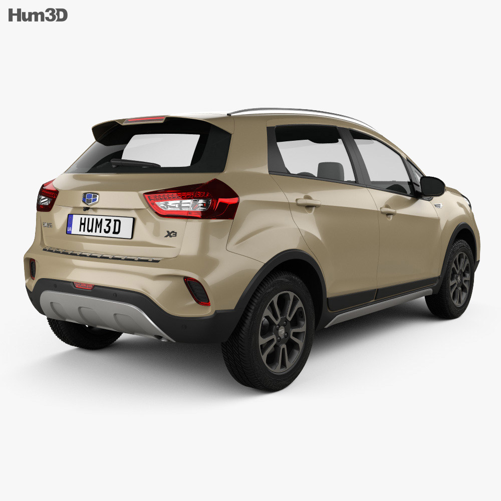 Geely Vision X3 2017 3d model