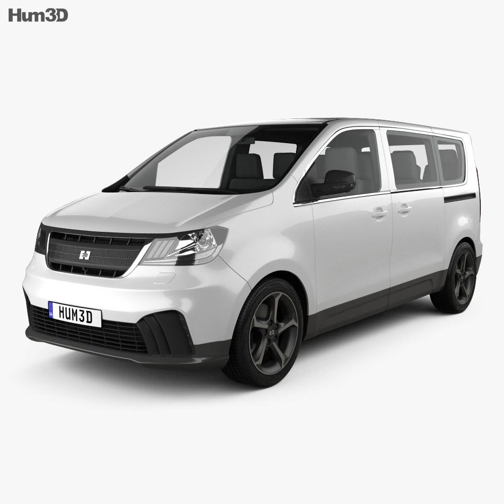 Generic Passenger Van 2019 3d model