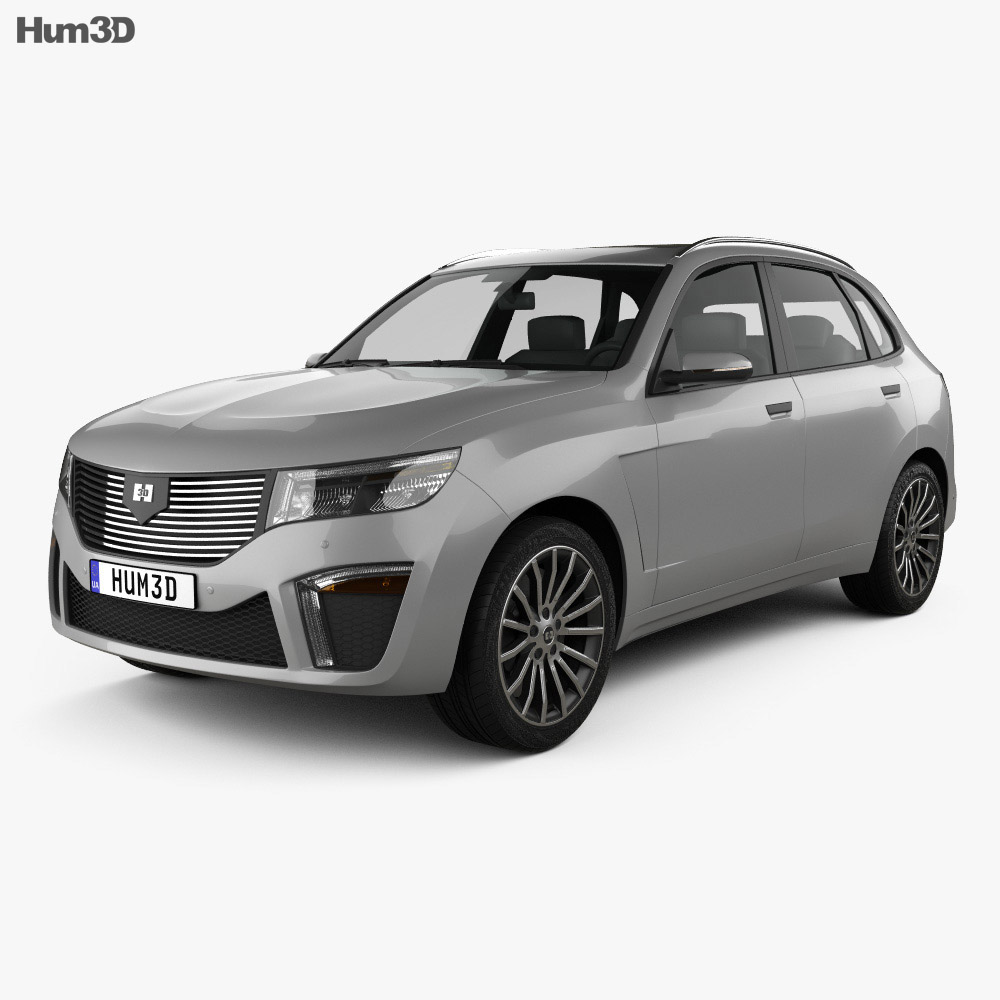 3D model of Generic SUV 2019