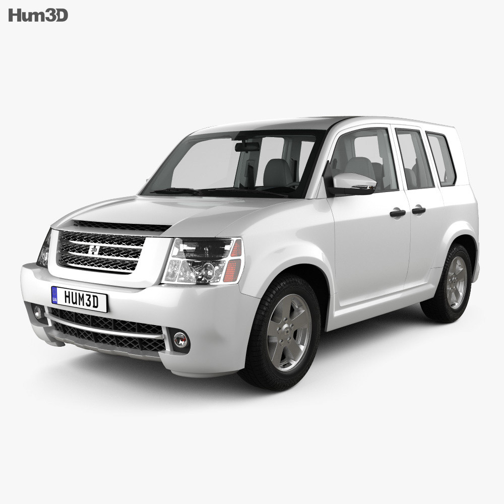 3D model of Generic SUV with HQ interior 2012
