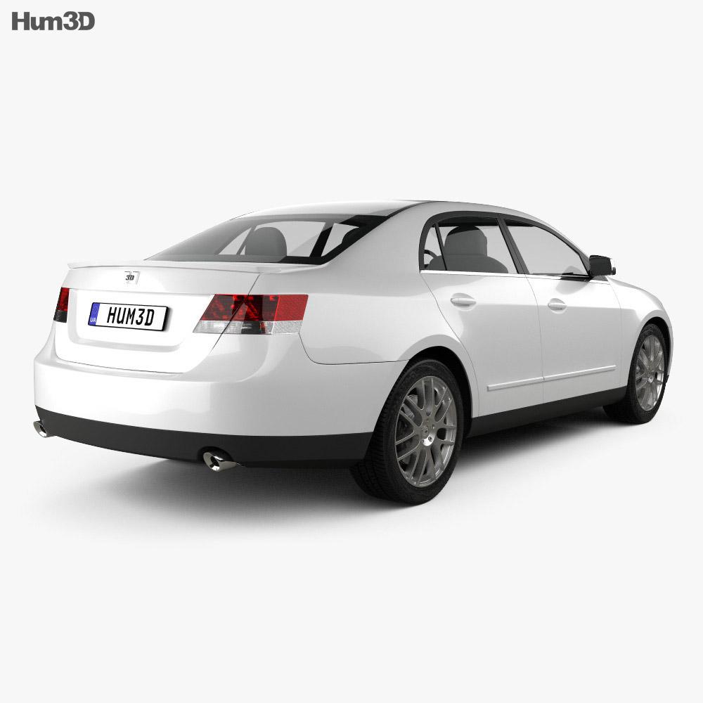 Generic Sedan 2013 3d model