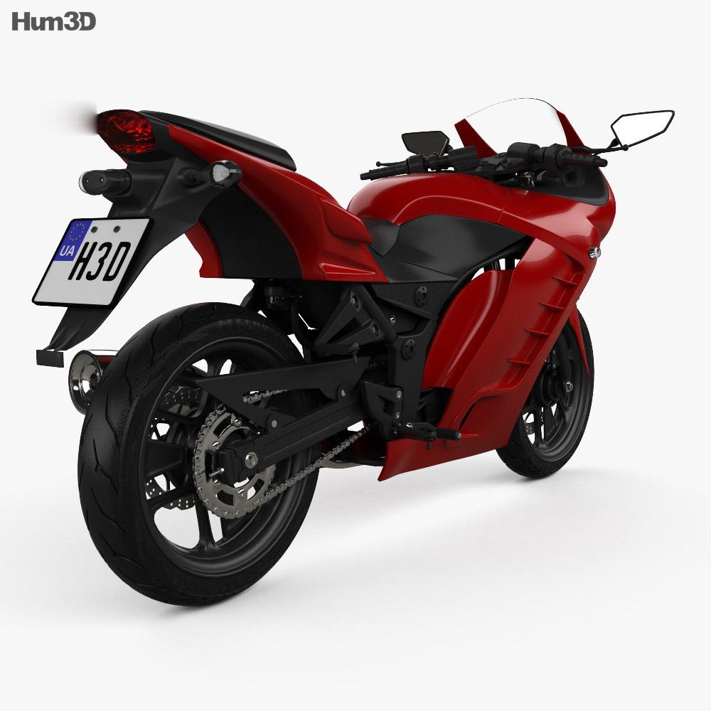 Generic Sport Bike 2014 3d model