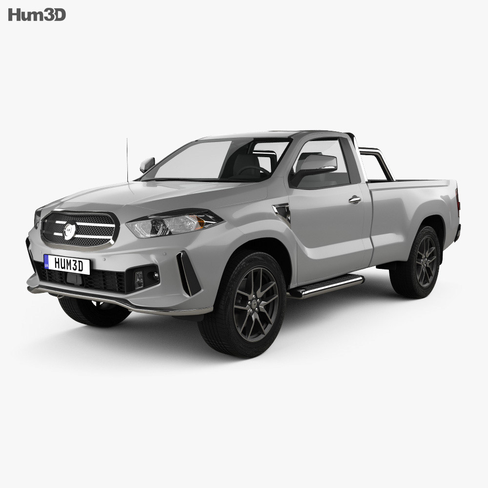 Generic Single Cab pickup 2016 3d model