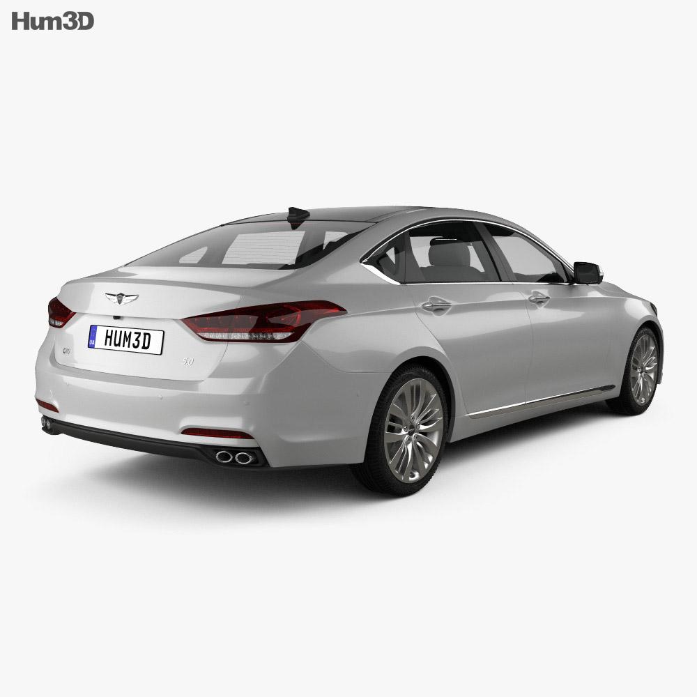 Genesis G80 2017 3d model