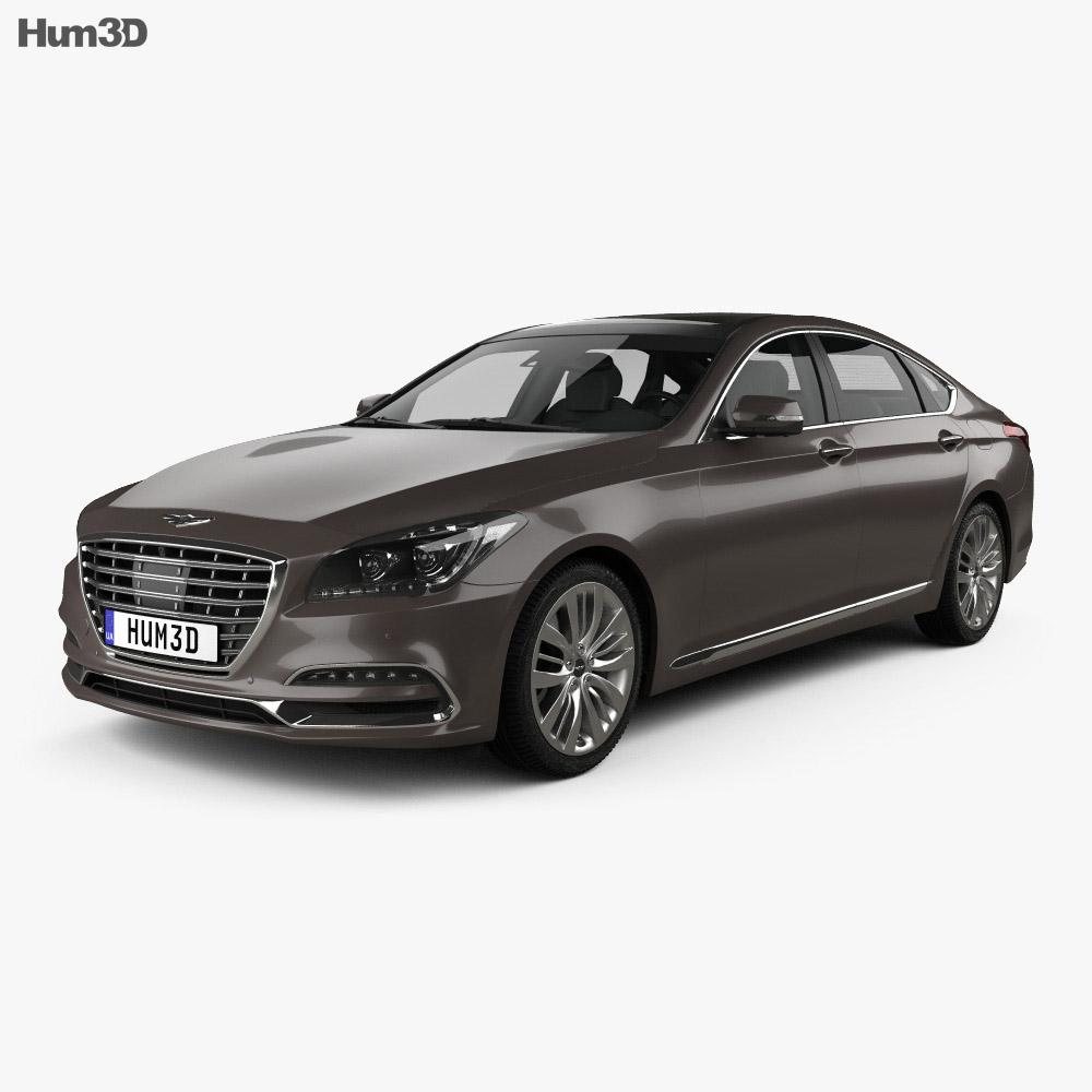 Genesis G80 2019 3d model