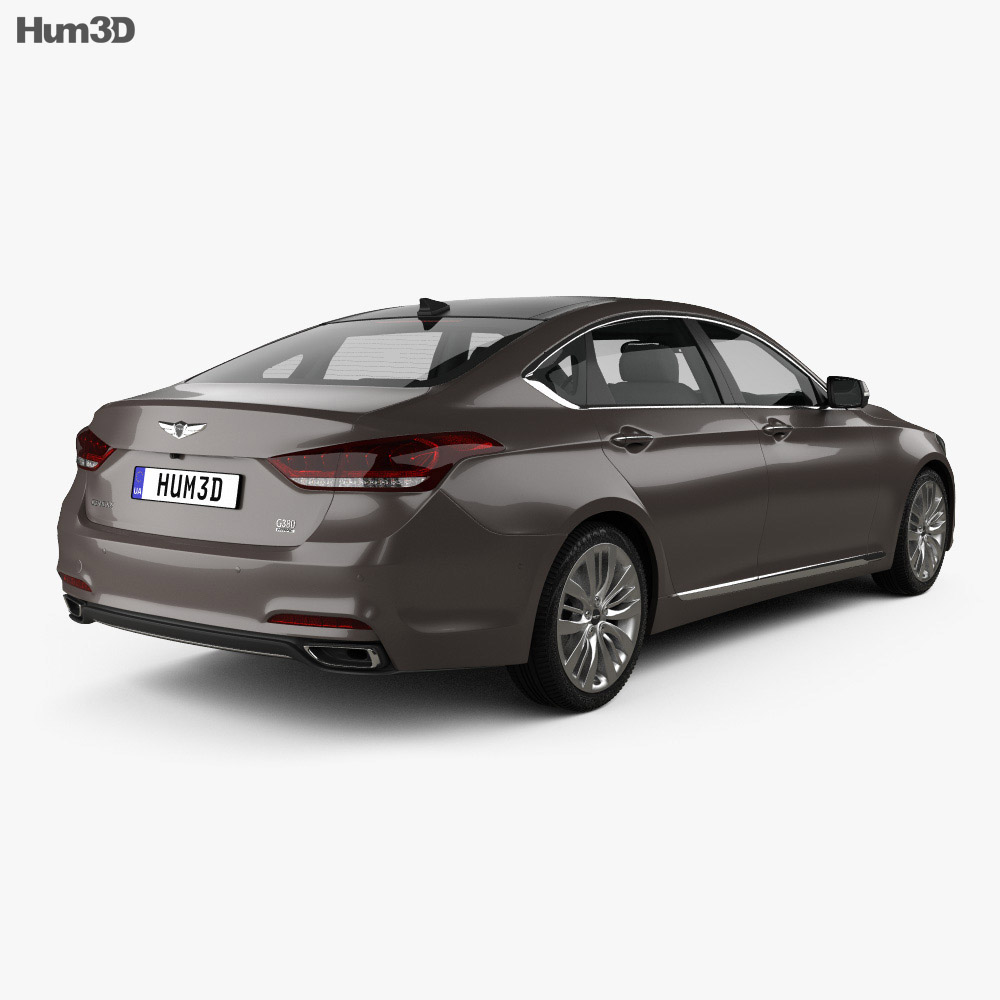 Genesis G80 2019 3d model back view