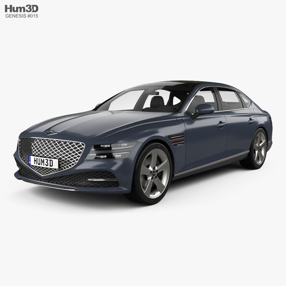 Genesis G80 2020 3d model